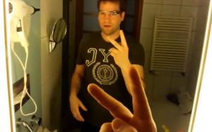 google glass no espelho